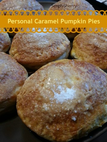 Personal Caramel Pumpkin Pies