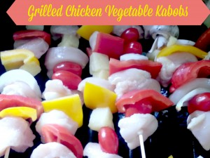 Grilled Chicken Vegetable Kabobs