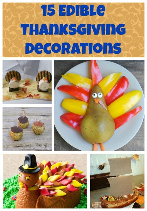 15 Edible Thanksgiving Decorations
