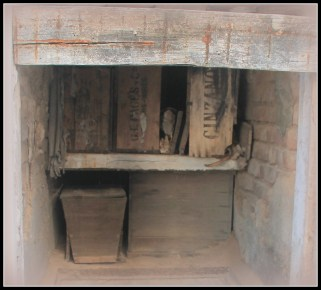 Some of the crypts were not maintained - and bones were falling out of the pine boxes