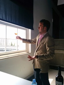 Alvaro as he shared the wine
