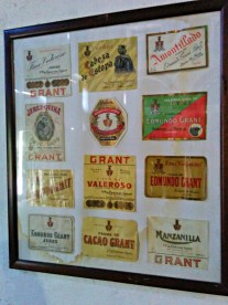 Bodegas Grant old labels