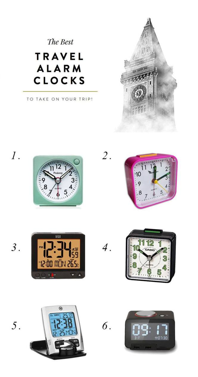The 6 Best Travel Alarm Clocks To Give