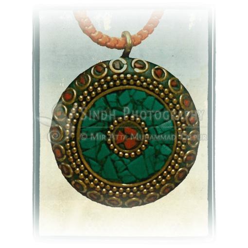Sindhi Balochi pendant necklace
