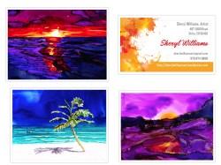 H. Ocean: Palm on the Beach, Sunset 1, Sunset 2