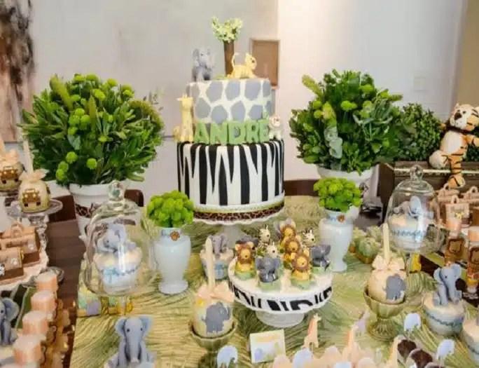Safari Animal Cake Decorations