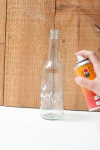 DIY bouteilles cuivrées