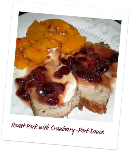 Cranberry-Port Sauce Polaroid