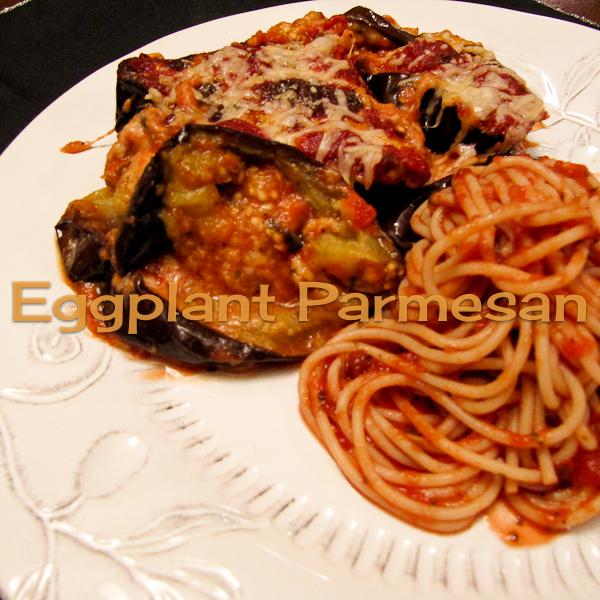 Baked {Not Fried} Eggplant Parmesan