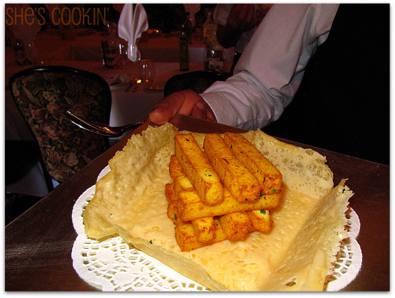 Polenta with truffles at Antonello's Ristorante