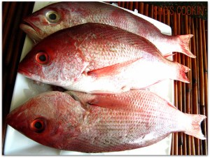 Whole red snapper for Chinese New Year