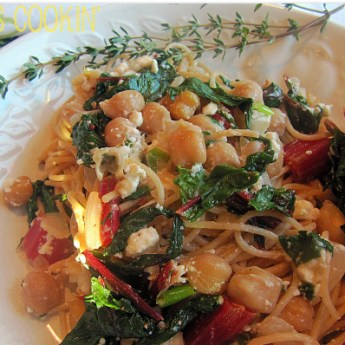 Pasta with Red Chard and Chickpeas