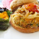 shrimp and crab burger