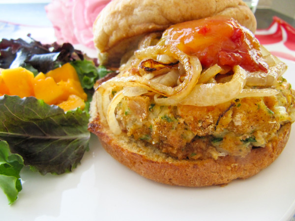 shrimp and crab burger