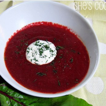 Cat Cora's Borscht and a Giveaway