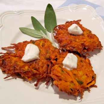 Sweet Potato Lakes and how to make CRISPY latkes! ShesCookin.com
