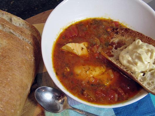fish stew, fish soup, Corfu fish stew, Corfiote fish stew