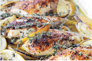 Ina Garten's Lemon Chicken Breast with lemon and thyme