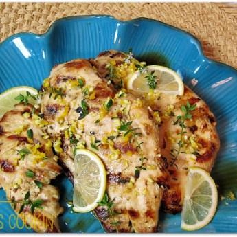 Grilled Chicken Breasts with Meyer Lemon Gremolata