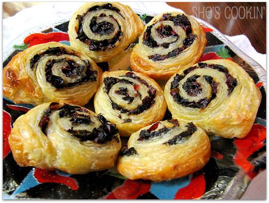 swiss chard pinwheels, savory pastries, swiss chard appetizers