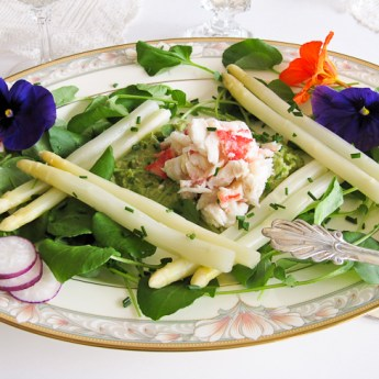 Spring and a White Asparagus and Crab Salad for Easter