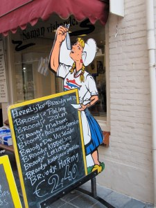 Fishmonger sign in the Netherlands
