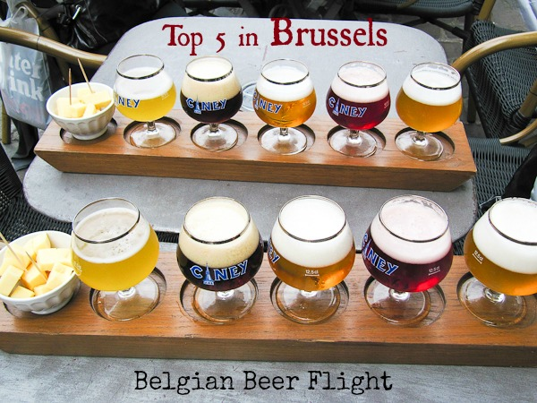 Top 5 for Foodies in Brussels, Belgian beer flight i