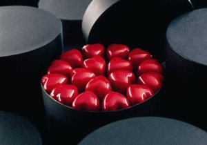 pierre marcolini heart-shaped chocolates, brussels