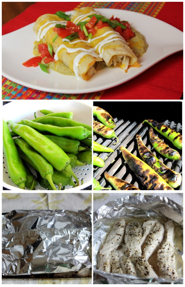 Chicken Enchiladas with Hatch Chile Sauce Two Ways