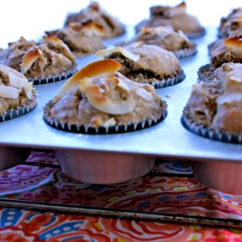 Banana Coconut Muffins, Mario Lopez & a Giveaway