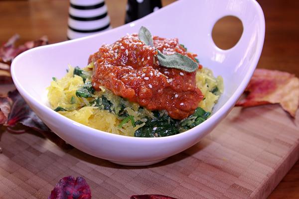 Spaghetti Squash with Moroccan Tomato Jam