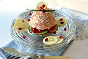 salmon mousse, salmon mousse appetizer, smoked salmon mousse