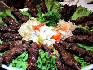 Capital Seafood Filet Mignon Satay skewers