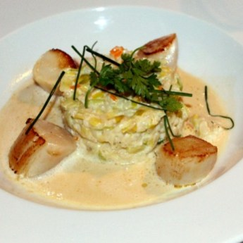 Le Saotico Scallops with Risotto