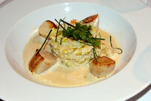 Le Saotico Scallops with Leek Risotto