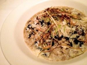 Five Crowns, mushroom risotto