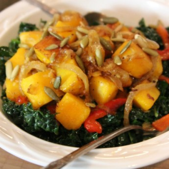 Super Food: Kale with Caramelized Squash and Onions