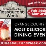 Orange County Restaurant Week 2012