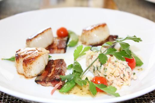 Raya, The Ritz Carlton Laguna Niguel, seared scallops