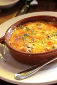 Cha Cha's Latin Kitchen, queso fundido