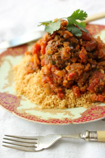 Moroccan meatballs and charmoula, charmoula