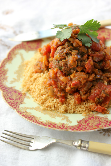 Moroccan spicy meatballs with charmoula, charmoula
