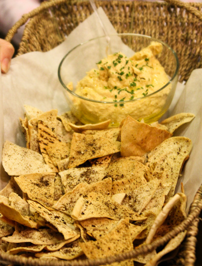 Moroccan pita chips with Za'atar, homemade pita chips