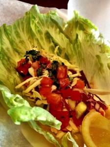Lettuce wraps, Spike's Fish House, panko crusted fish lettuce wraps