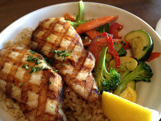 Spike's Fish House, grilled chicken bowl