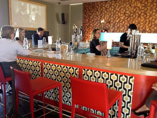 Wine Lab mid-century modern design