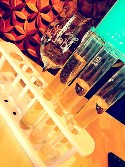Wine Lab tasting flight