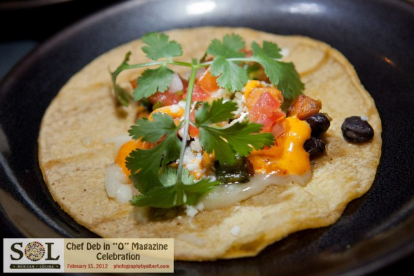 SOL Cocina roasted sweet potato and black bean taco