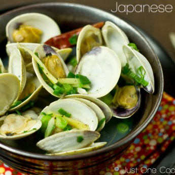 Japanese Steamed Clams from Just One Cookbook