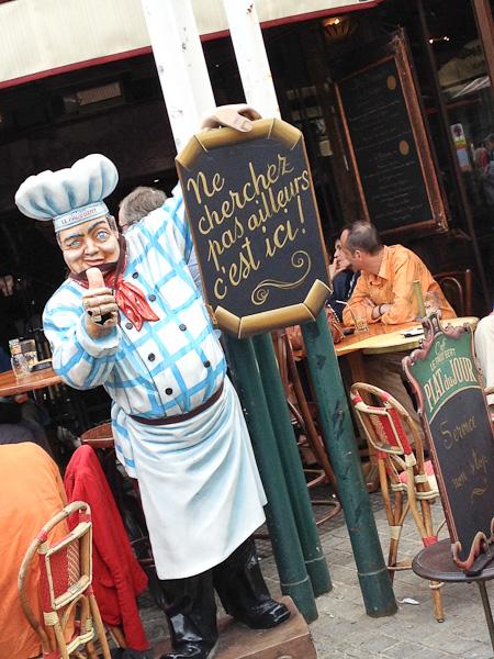 Bistro sign, Paris